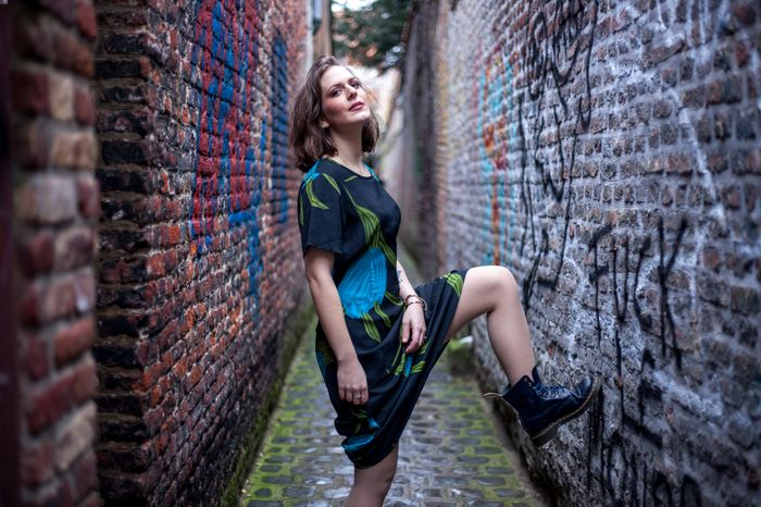 Shooting rock vintage, alley in Lille